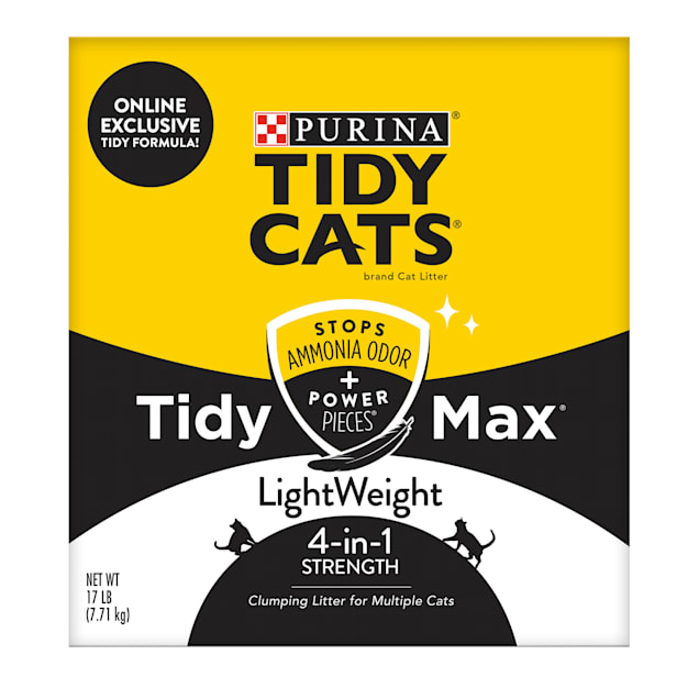 Tidy Cats Clumping LightWeight Max 4 in 1 Strength Formula Multi Cat Litter, 17 lbs. - Carousel image #1