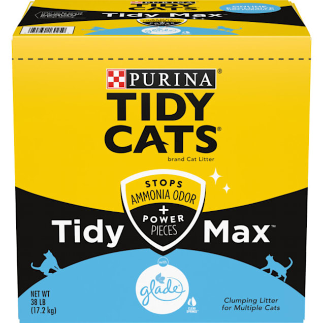 Tidy Cats Clumping Max Glade Tough Odor Clear Springs Multi Cat Litter, 38 lbs. - Carousel image #1