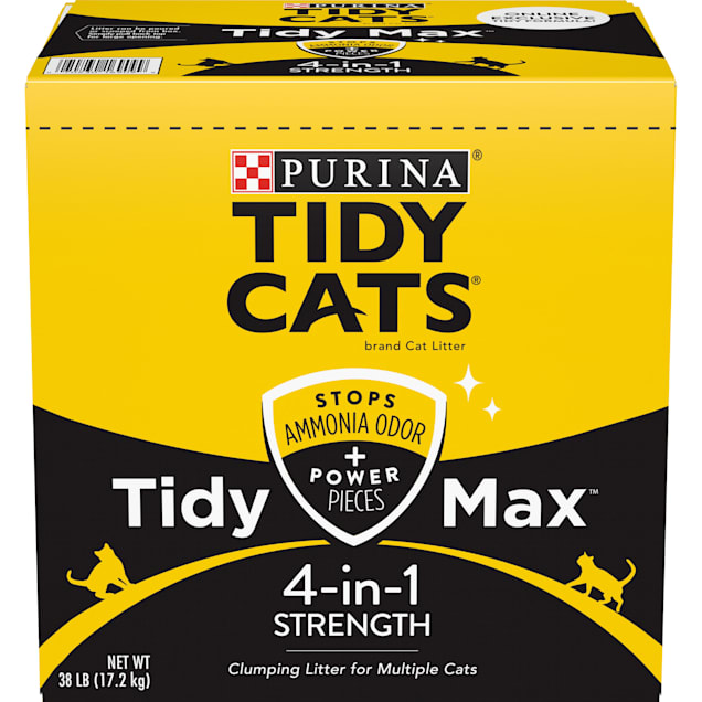 Tidy Cats Clumping Max 4 in 1 Strength Multi Cat Litter, 38 lbs. - Carousel image #1