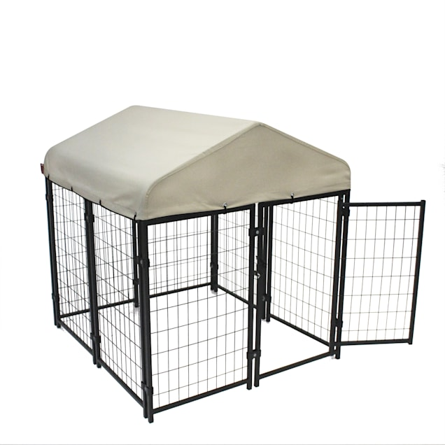 """Lucky Dog Pet Resort Kennel Kit With Sunbrella - Tahitian Sand Cover, 48"""" L X 48"""" W X 52"""" H - Carousel image #1"""