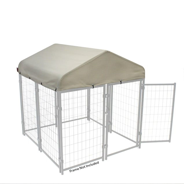 """Lucky Dog Canopy Pet Kennel Cover With Sunbrella Fabric - Tahitian Sand, 48"""" L X 48"""" W X 12"""" H - Carousel image #1"""
