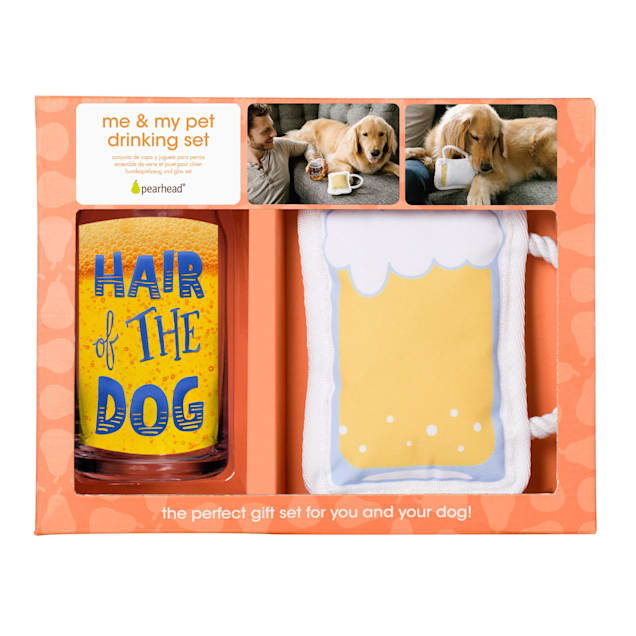 Pearhead Pet Hair of the Dog, Owner Beer Glass and Dog Toy Gift Set - Carousel image #1