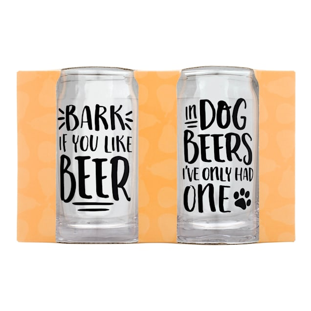 Pearhead Pet 16 oz. Dog Beer Glasses, Pack of 2 - Carousel image #1