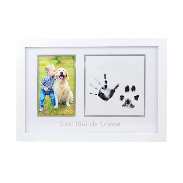 """Pearhead Pet """"Best Friends Forever"""" Picture Frame and Pawprints Ink Pad Kit in White - Carousel image #1"""