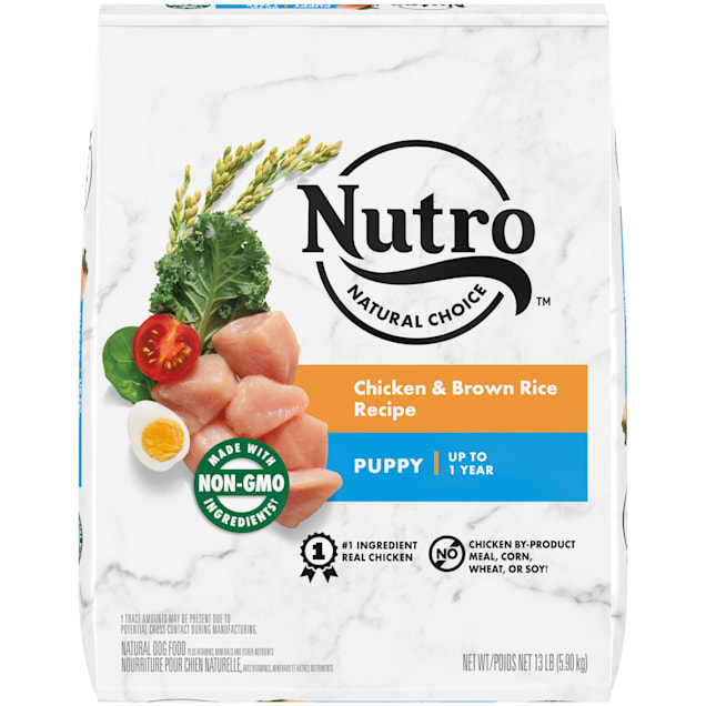 Nutro Natural Choice Chicken & Brown Rice Recipe Puppy Dry Dog Food, 13 lbs. - Carousel image #1