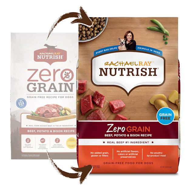 Rachael Ray Nutrish Zero Grain Beef, Potato & Bison Recipe Dry Dog Food, 23 lbs. - Carousel image #1