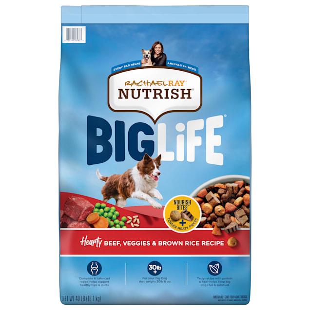 Rachael Ray Nutrish Big Life Hearty Beef, Veggies & Brown Rice Recipe Dry Food for Big Dogs, 40 lbs. - Carousel image #1