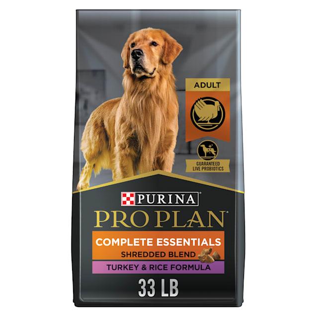Purina Pro Plan Complete Essentials Shredded Blend Turkey & Rice Formula Adult Dry Dog Food, 33 lbs. - Carousel image #1