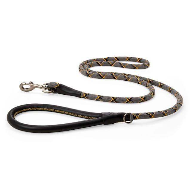 Reddy Grey Plaid Woven Dog Leash, 6 ft. - Carousel image #1