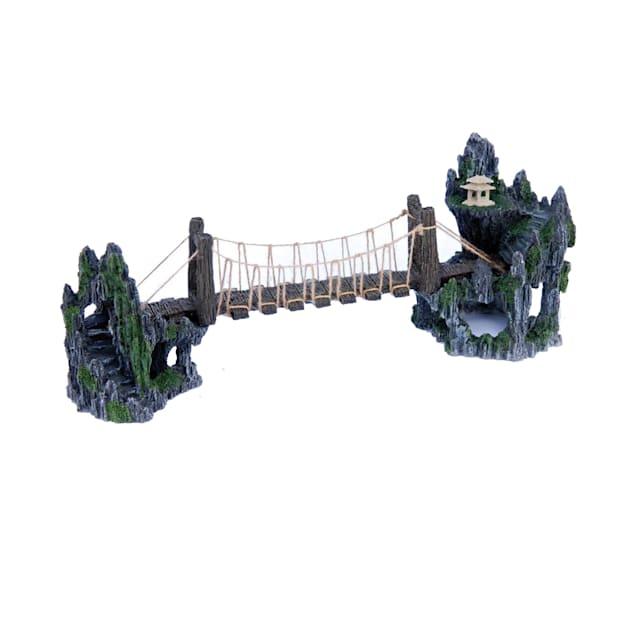 Penn Plax Troll Bridge Aquatic Decor, Large - Carousel image #1