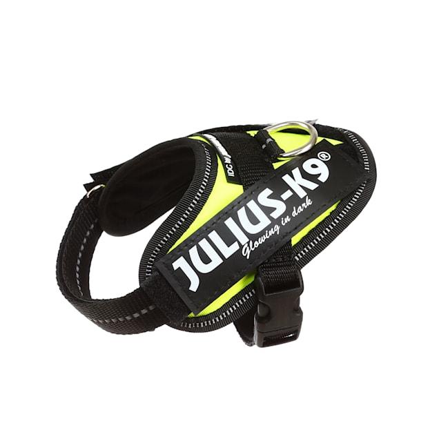 Julius-K9 UV Neon Green Dog Harness, 3X-Small - Carousel image #1