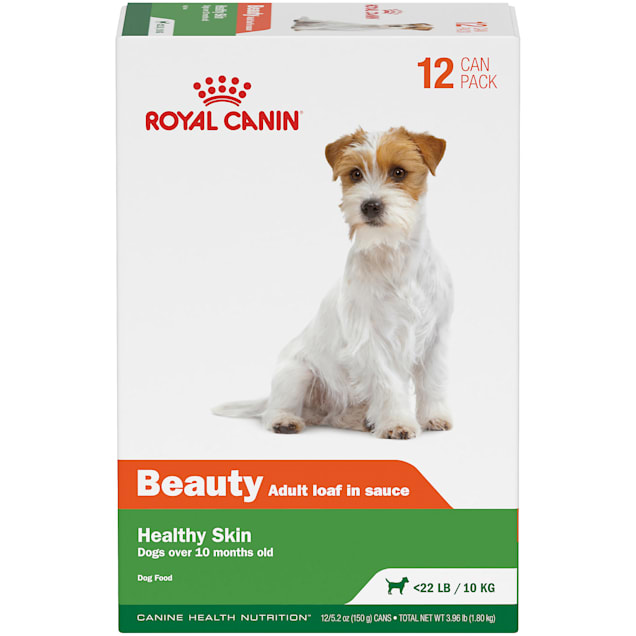 Royal Canin Canine Health Nutrition Beauty Adult Loaf in Sauce Canned Dog Food Variety Pack, 5.2 oz., Pack of 12 - Carousel image #1