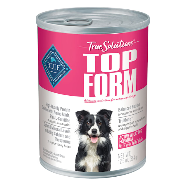 Blue Buffalo True Solutions Top Form Natural Chicken Recipe Active Breed Adult Wet Dog Food, 12.5 oz. - Carousel image #1