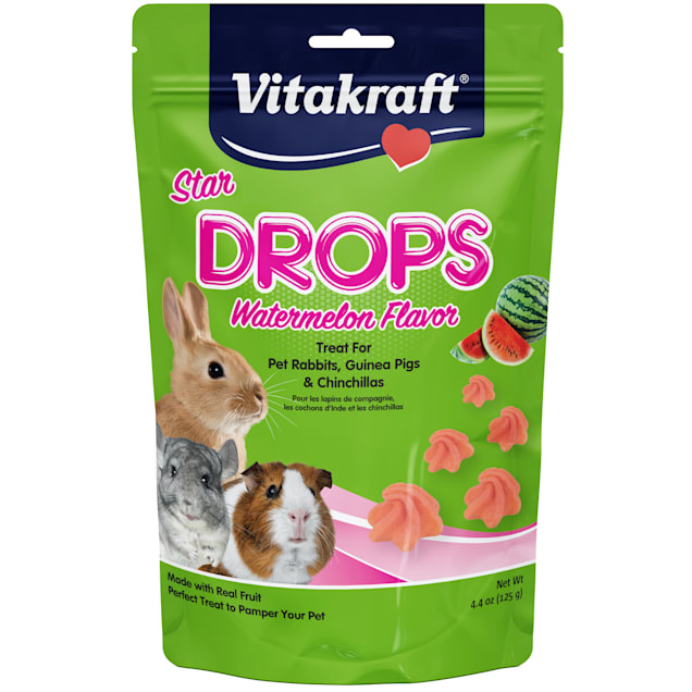 Vitakraft Drops with Watermelon for Small Animals, 4.4 oz. - Carousel image #1