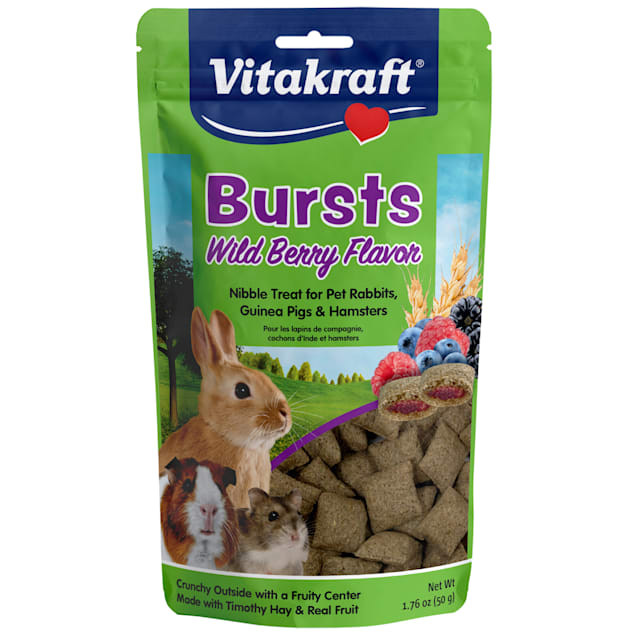 Vitakraft Bursts Wildberry Flavor for Small Animals, 1.76 oz. - Carousel image #1