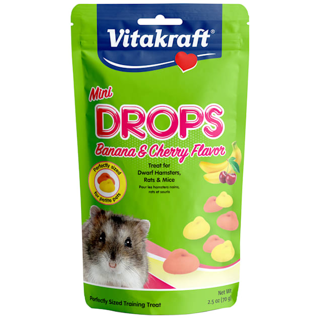 Vitakraft Mini Drops Banana/Cherry Flavor for Hamsters, 2.5 oz. - Carousel image #1