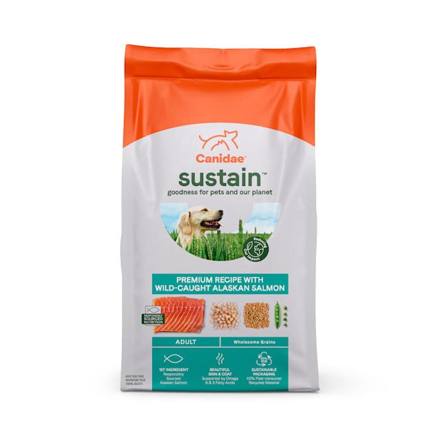 Canidae Sustain Premium Recipe with Wild-Caught Alaskan Salmon Adult Dry Dog Food, 18 lbs. - Carousel image #1