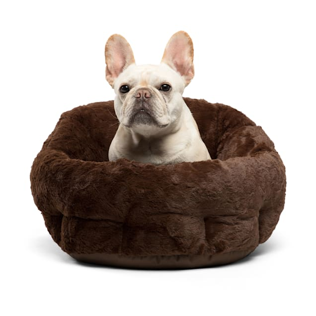 """Best Friends by Sheri Standard Dark Chocolate Deep Dish Orthocomfort Cat and Dog Bed in Lux Fur, 20"""" L X 20"""" W - Carousel image #1"""