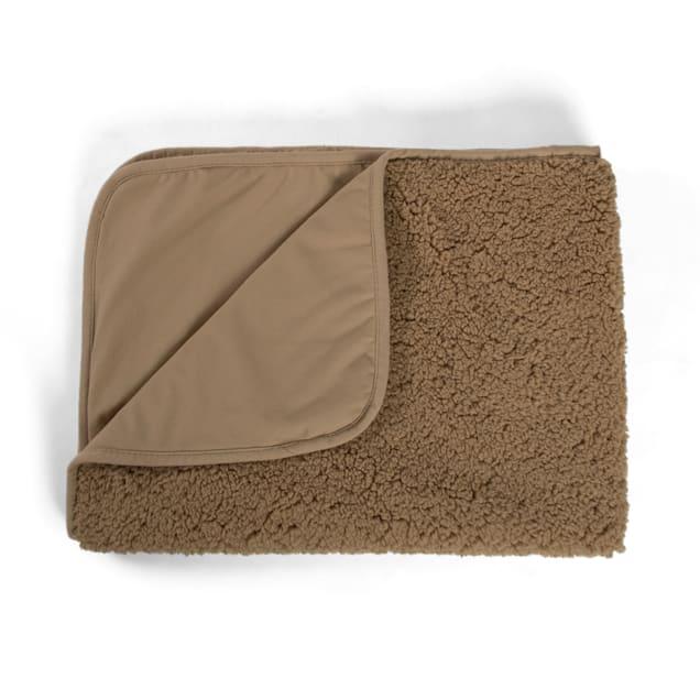 """Best Friends by Sheri Beige Self Warming Sherpa Blanket for Pets, 30"""" L X 40"""" W - Carousel image #1"""