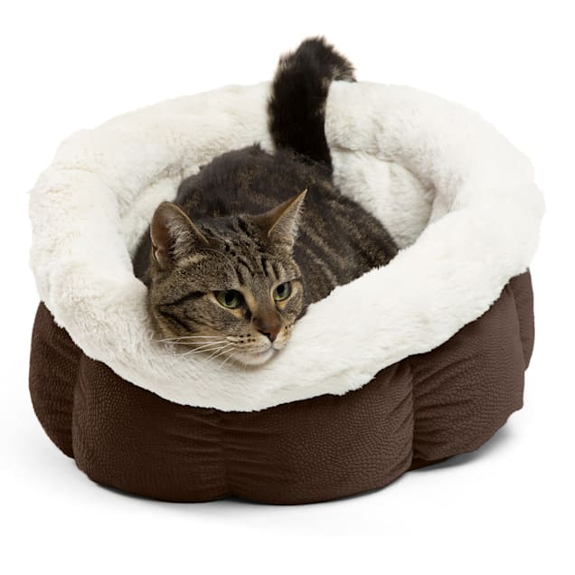 """Best Friends by Sheri Standard Dark Chocolate Ilan Cuddle Cup for Dogs, 17"""" L X 17"""" W - Carousel image #1"""