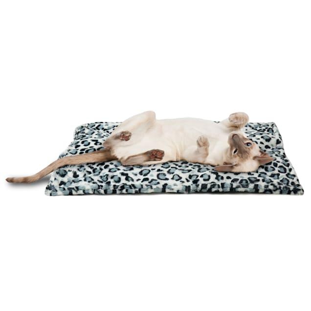 "FurHaven Snow Leopard ThermaNAP Faux Fur Self-Warming Pet Bed Mat, 22"" L X 17"" W X 0.25"" H - Carousel image #1"
