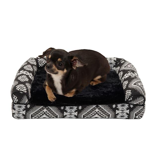 "FurHaven Black Medallion Southwest Kilim Orthopedic Sofa Pet Bed, 20"" L X 15"" W X 5.5"" H - Carousel image #1"