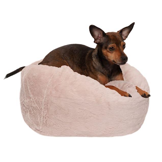 "FurHaven Shell Round Plush Ball Pet Bed, 14.2"" L X 14.2"" W X 18"" D - Carousel image #1"