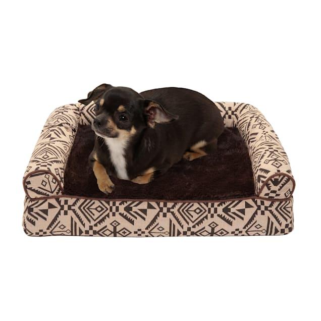 "FurHaven Desert Brown Southwest Kilim Orthopedic Sofa Pet Bed, 20"" L X 15"" W X 5.5"" H - Carousel image #1"