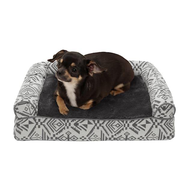 "FurHaven Boulder Gray Southwest Kilim Orthopedic Sofa Pet Bed, 20"" L X 15"" W X 5.5"" H - Carousel image #1"