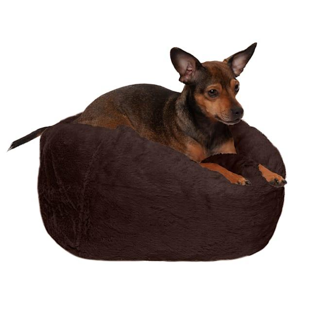 "FurHaven Espresso Round Plush Ball Pet Bed, 14.2"" L X 14.2"" W X 18"" D - Carousel image #1"