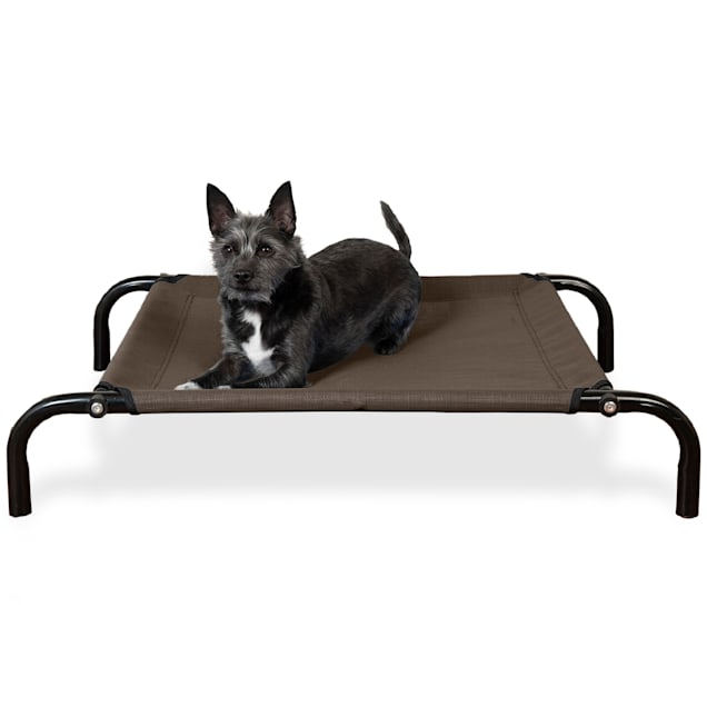 """FurHaven Espresso Elevated Reinforced Pet Cot Bed, 31.5"""" L X 22.25"""" W X 6"""" H - Carousel image #1"""