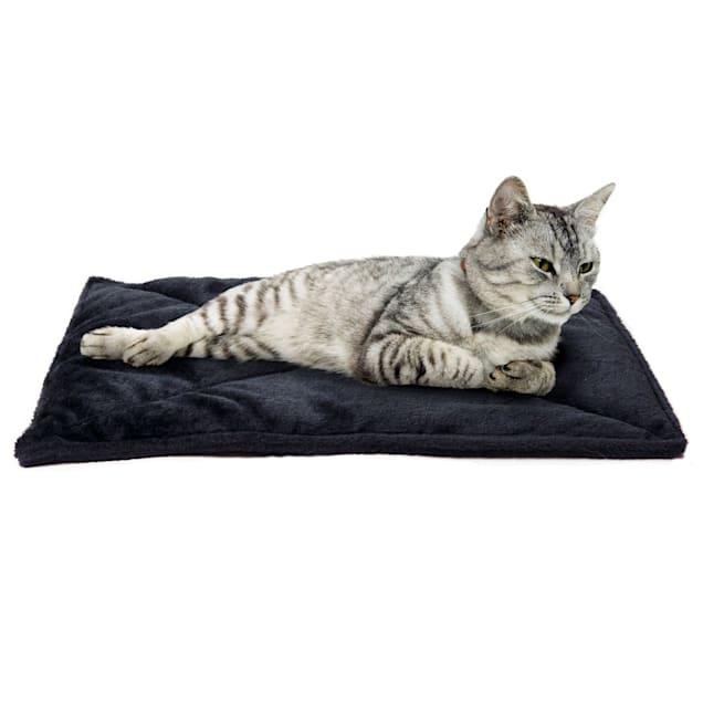 "FurHaven Black ThermaNAP Faux Fur Self-Warming Pet Bed Mat, 22"" L X 17"" W X 0.25"" H - Carousel image #1"