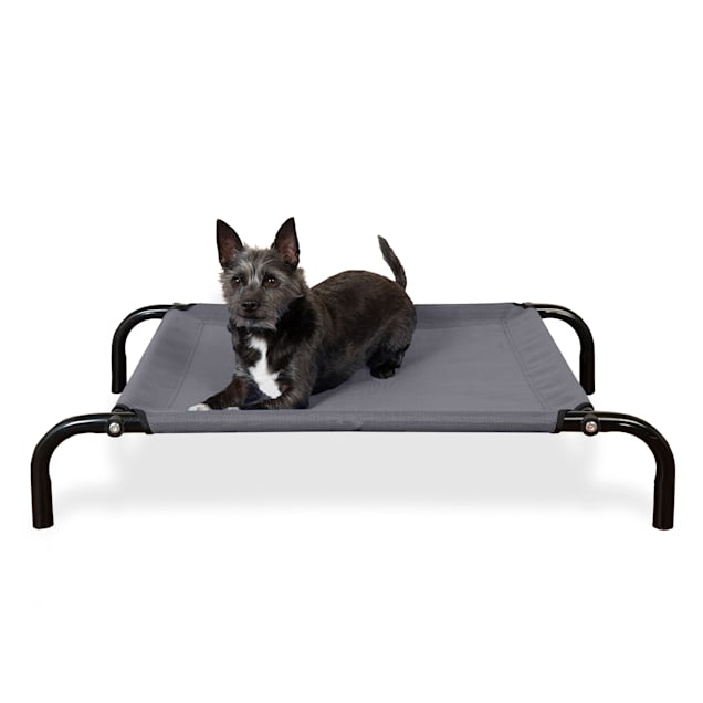 """FurHaven Gray Elevated Reinforced Pet Cot Bed, 31.5"""" L X 22.25"""" W X 6"""" H - Carousel image #1"""