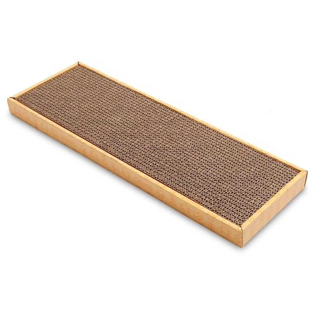 """FurHaven Small Corrugated Cat Scratcher with Catnip, 1.18"""" H - Carousel image #1"""