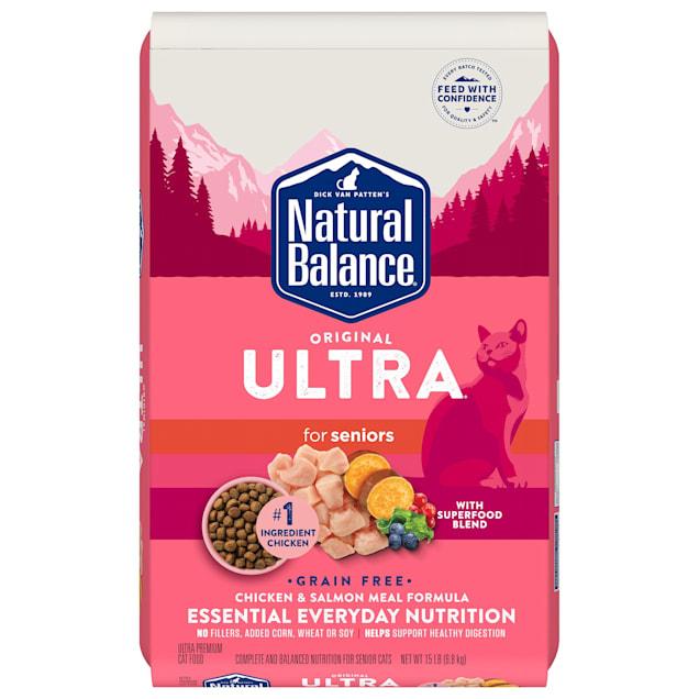 Natural Balance Original Ultra Grain Free Chicken and Salmon Meal Formula Seniors Dry Cat Food, 15 lbs. - Carousel image #1