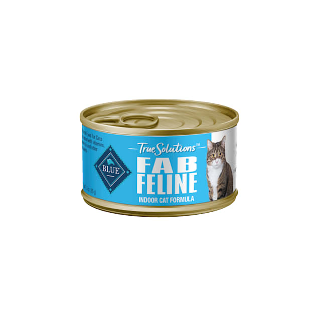 Blue Buffalo True Solutions Fab Feline Natural Nutrition for Indoor Care Adult Wet Cat Food, 3 oz., Case of 24 - Carousel image #1