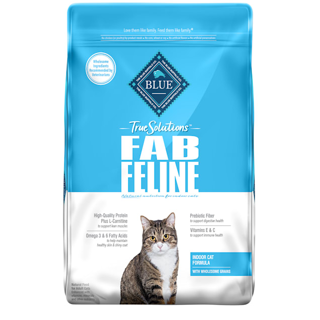 Blue Buffalo True Solutions Fab Feline Natural Nutrition for Indoor Care Adult Dry Cat Food, 11 lbs. - Carousel image #1