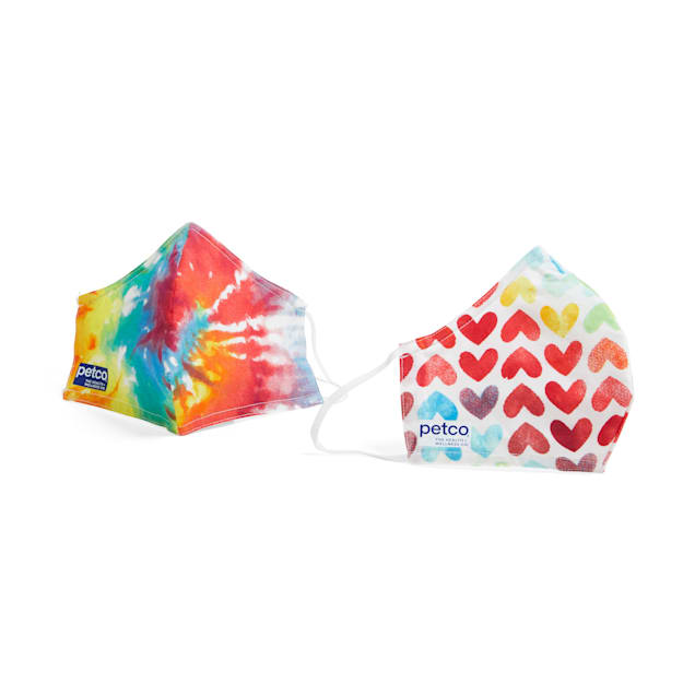 Petco Tie-Dye Face Masks, Pack of 2 - Carousel image #1