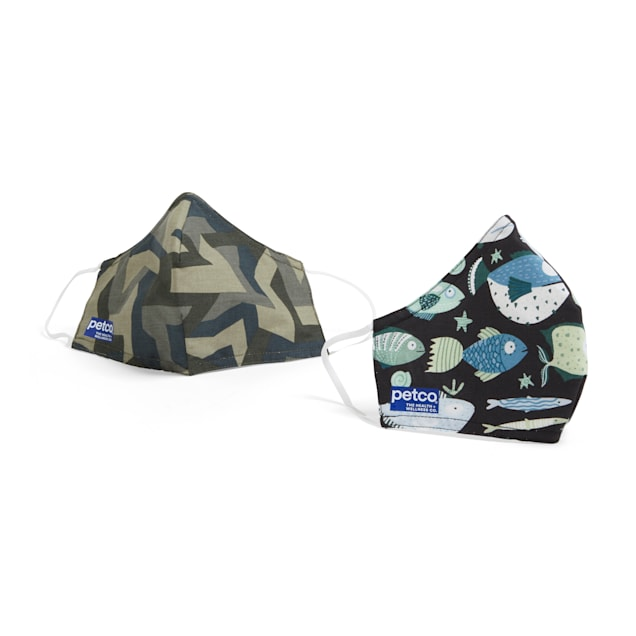 Petco Fish & Camo Face Masks, Pack of 2 - Carousel image #1