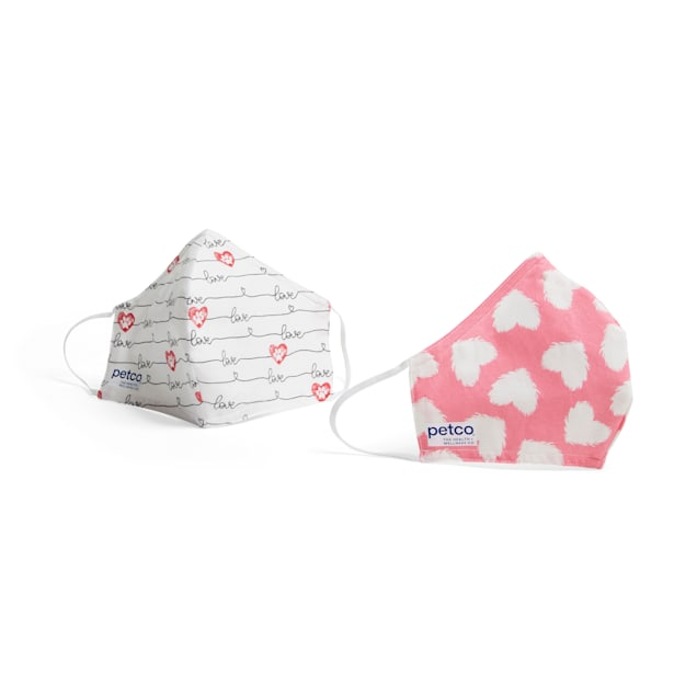 Petco Lots Of Love Face Masks, Pack of 2 - Carousel image #1