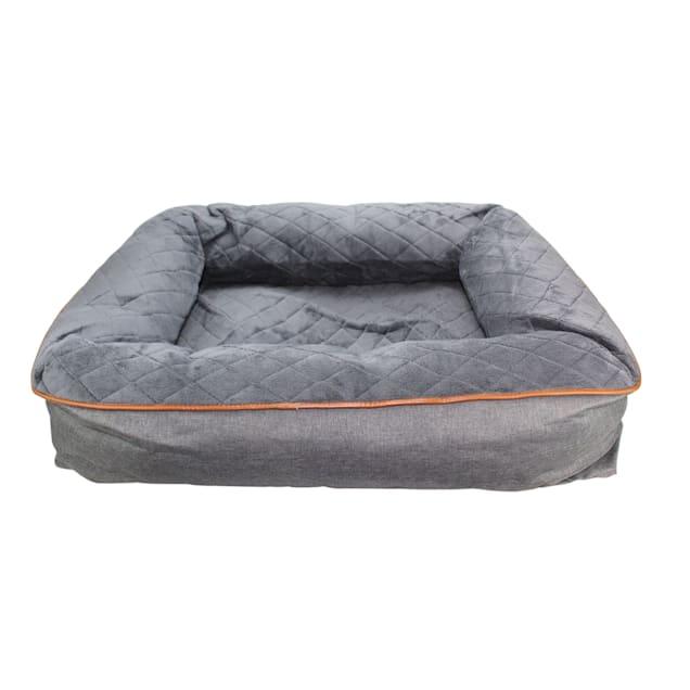 "Be One Breed Dark Grey Snuggle Dog Bed, 39"" L X 9"" W X 9"" H - Carousel image #1"