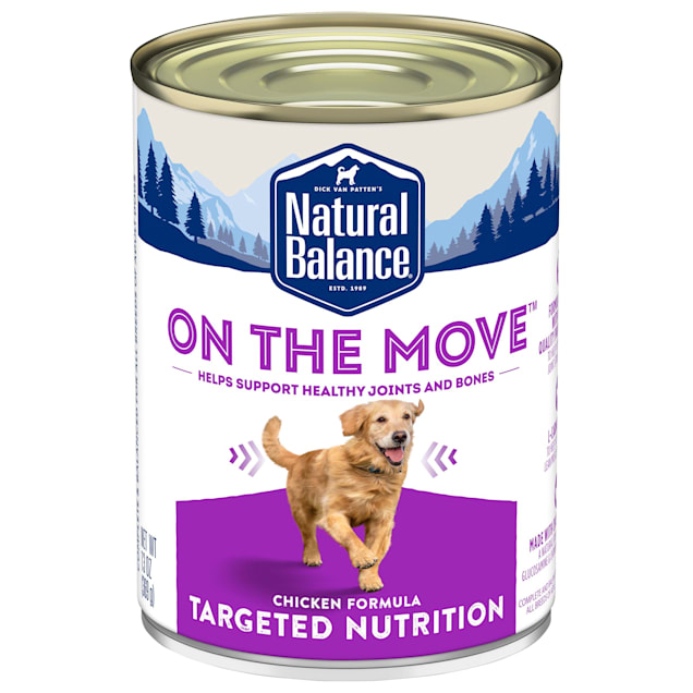 Natural Balance On the Move Chicken Formula Wet Dog Food, 13 oz., Case of 12 - Carousel image #1