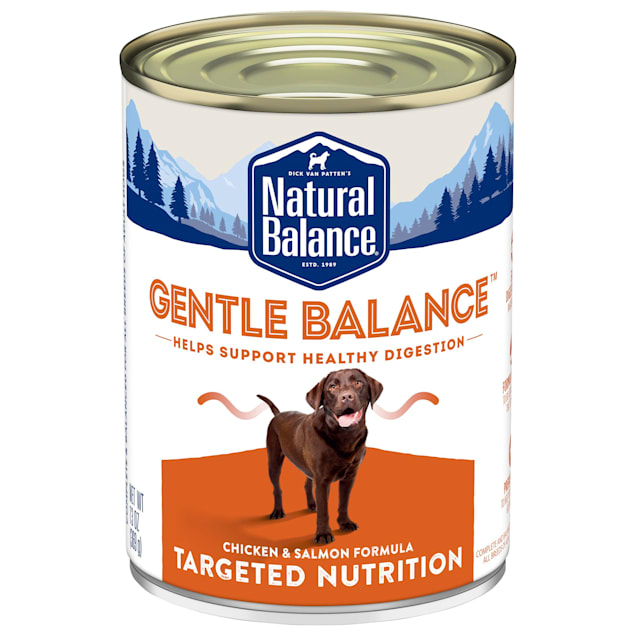 Natural Balance Gentle Balance Chicken & Salmon Formula Wet Dog Food, 13 oz., Case of 12 - Carousel image #1