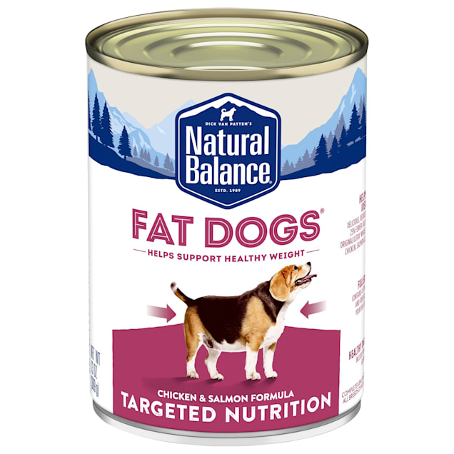 Natural Balance Fat Dogs Targeted Nutrition Chicken & Salmon Formula Wet Food, 13 oz., Count of 12. - Carousel image #1