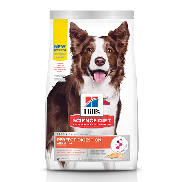 Hill's Science Diet Adult Perfect Digestion Salmon Dry Dog Food, 22 lbs. - Carousel image #1