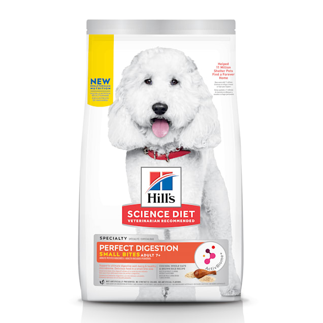 Hill's Science Diet Adult 7+ Perfect Digestion Small Bites Chicken Dry Dog Food, 12 lbs. - Carousel image #1