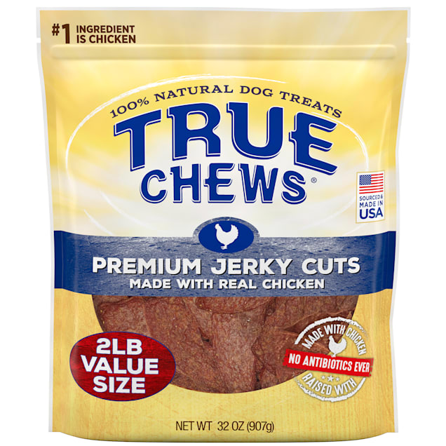 True Chews Premium Jerky Cuts Made with Real Chicken Dog Treats, 32 oz. - Carousel image #1