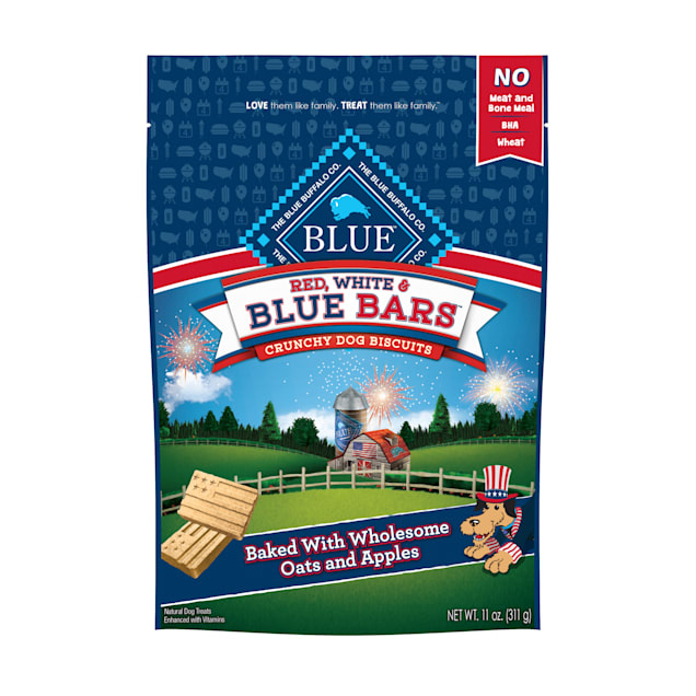 Blue Buffalo Red White & Blue Bars Crunchy Dog Biscuits, 11 oz. - Carousel image #1