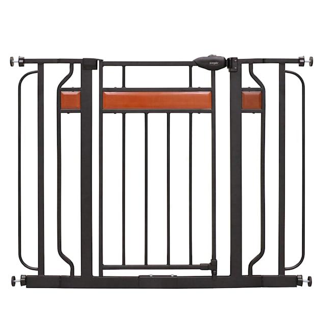 "Regalo Extra Wide Home Accents Decor Metal Pet Gate, 2"" L X 32"" W X 30"" H - Carousel image #1"