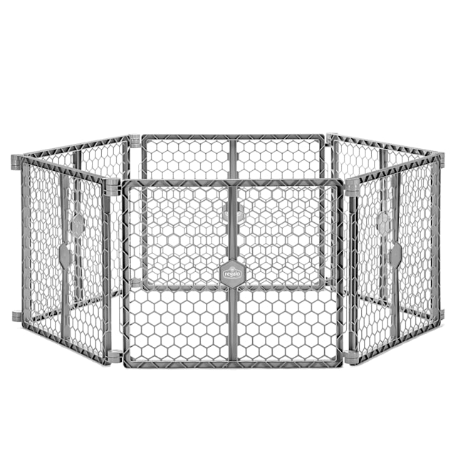 """Regalo 2-in-1 Plastic Pet Gate and Playard, 2"""" L X 192"""" W X 26"""" H - Carousel image #1"""